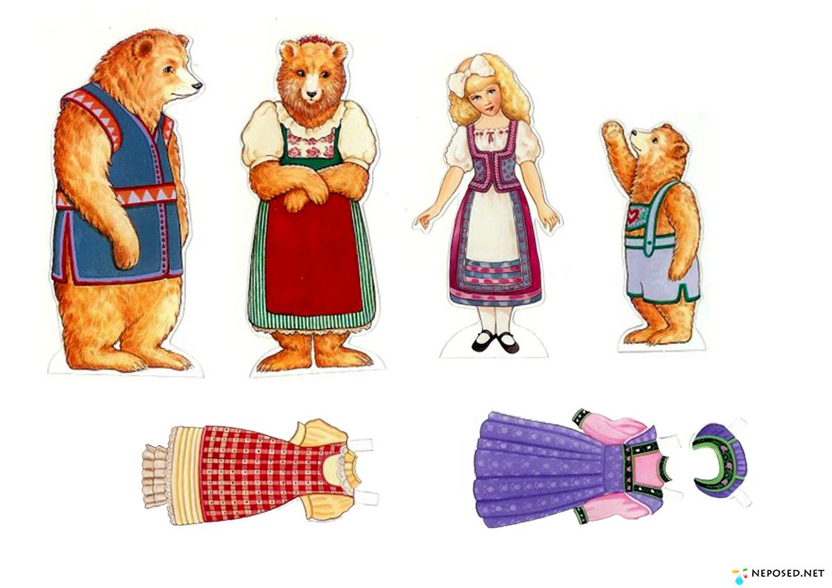 Персонажи к сказкам для фланелеграфа