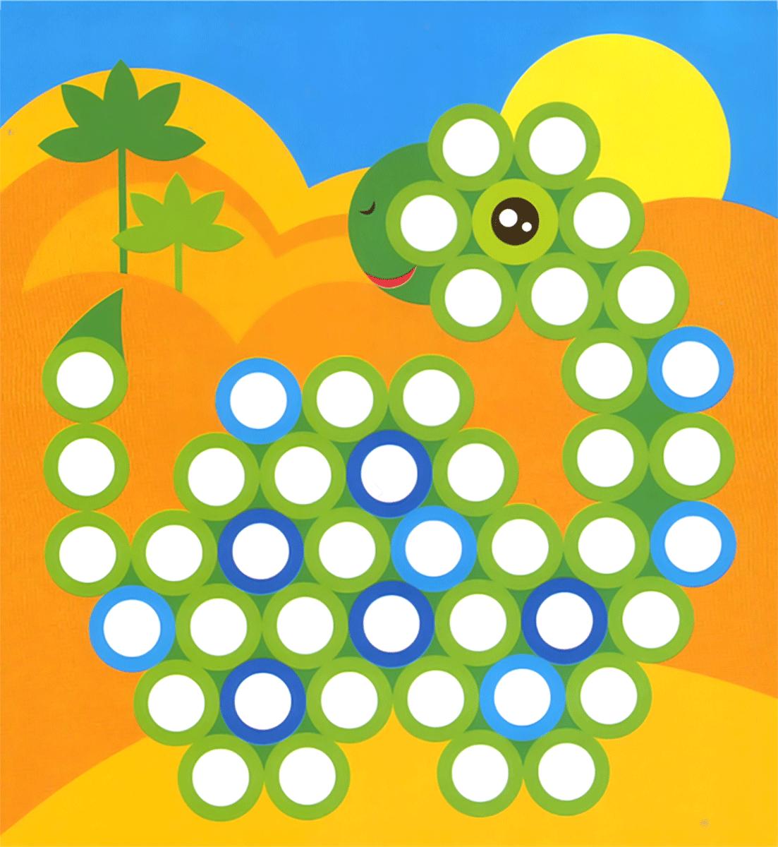 Картинки из кружочков для дошкольного возраста мозаика