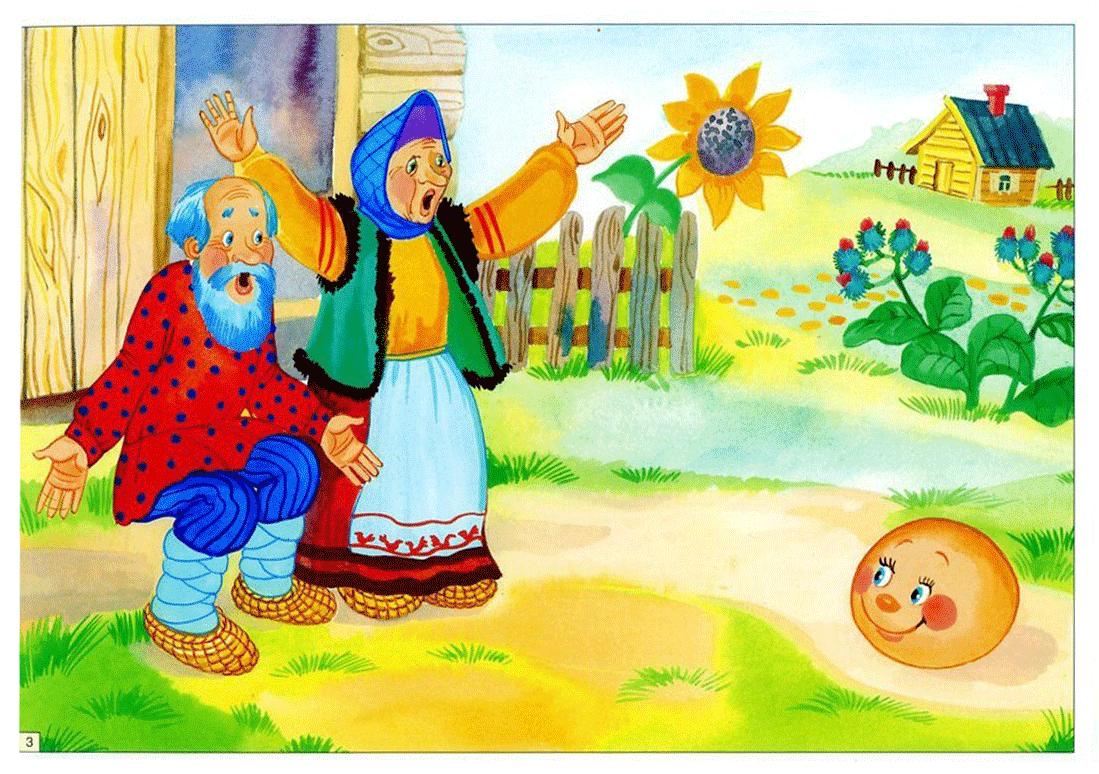 Картинки детские к сказке колобок