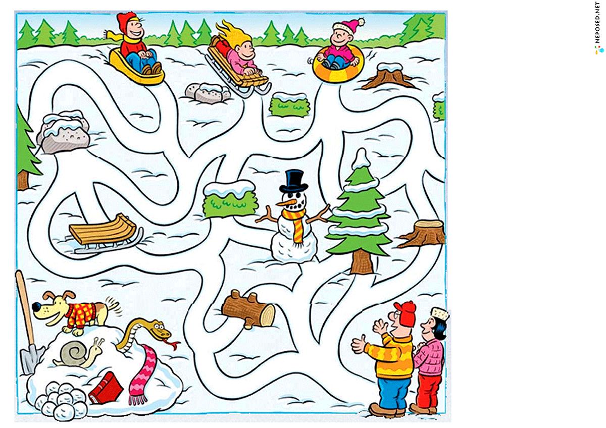 Картинки с заданиями про зиму