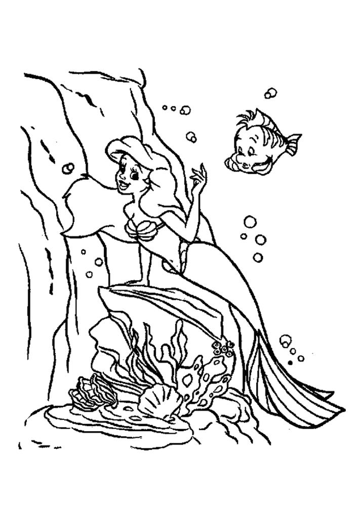 благодаря картинки раскраски к рассказу русалочка звук вид падающей