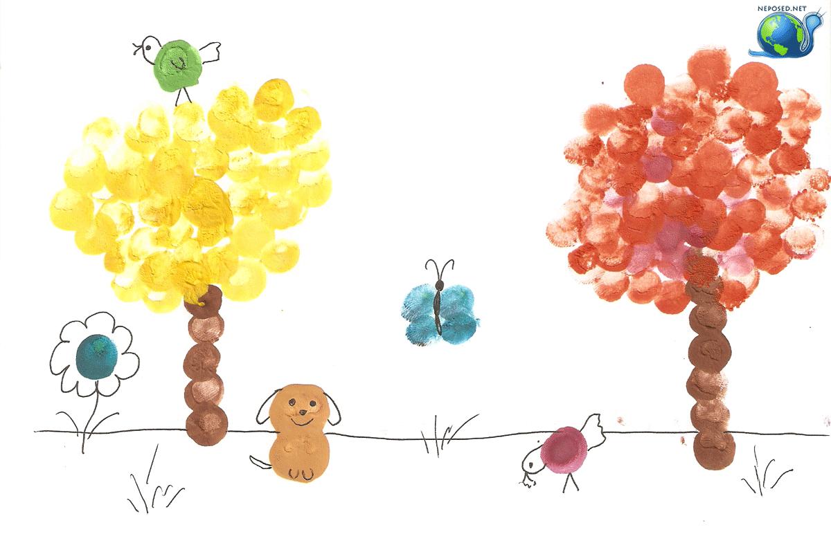 Пальчиковые рисунки для детей