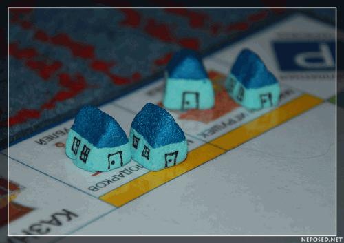 как сделать домики для монополии